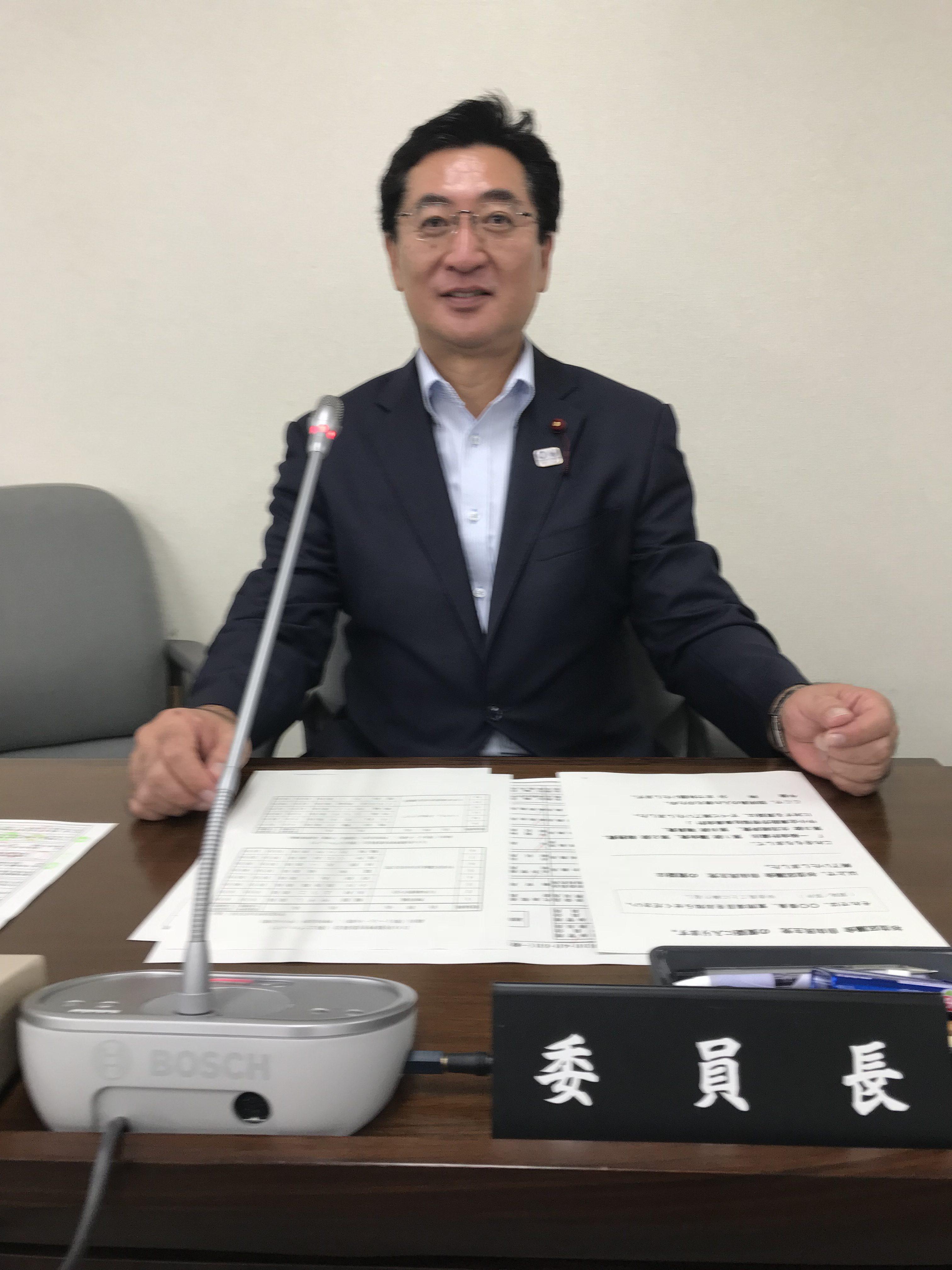 葉梨俊郎(はなし俊郎)決算特別委員会 委員長代行